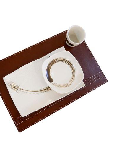 Lorenzo Table / Plate Leather Coaster