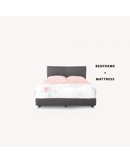 COMBO SET ( Bedframe + Bonnel Mattress + FREE 2 Pillows)