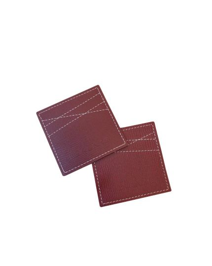 Lorenzo Glass / Cup Leather Coaster (Red)