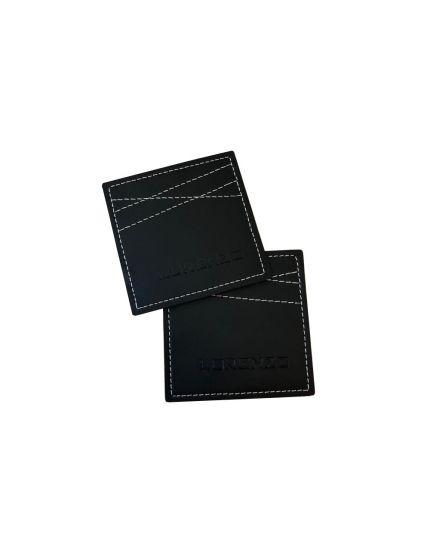 Lorenzo Glass / Cup Leather Coaster (Black)