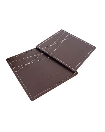 Lorenzo Glass / Cup Leather Coaster (Dark Brown)