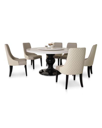 [ Dining Set ] DTB-HT036-6DTR150 + CHR-C1955-5CH
