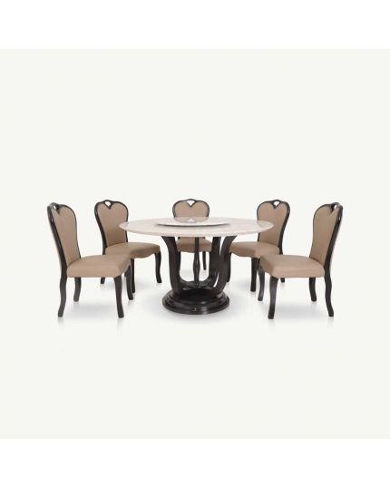 [ Dining Set ] DTB-HT1960-6DTR135 + CHR-C1093-5CH