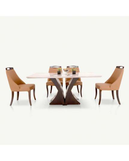 [ Dining Set ] DTB-HT801-6DT160 + CHR-C801-5CH