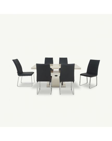 Dining Set [ DTB-T502-6DT160 + CHR-Y1021A-5CH ]
